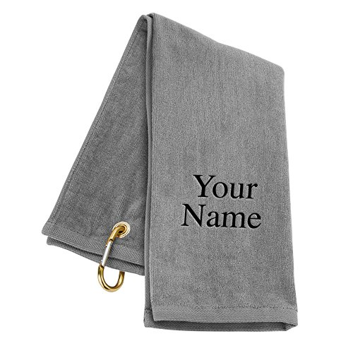 Trifold LLC Personalized Golf Towel - Silver