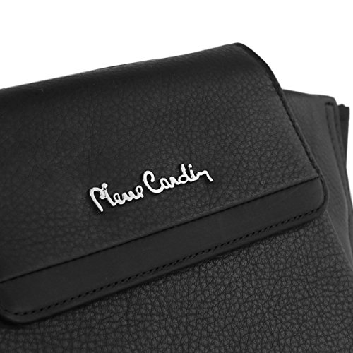 Pierre Cardin Genuine Leather Black Waist Running Belt Bum Bag Fanny Pack Pouch for Apple iPhone 6 6s / iPhone 6s Plus by Pierre Cardin (Image #6)