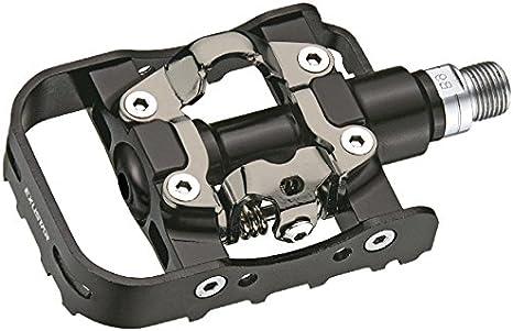 Exustar EPM815 Pedales de MTB, Unisex Adulto, Negro, 110 x 70 mm