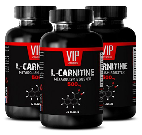 l carnitine 500 mg - Carnitine 500mg - Potential Supplement for adults (3 Bottles - 90 Tablets) by VIP VITAMINS