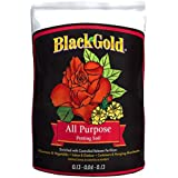 Sun Gro 13101021 Black Gold All Purpose Potting Mix with Fertilizer, 1 Cubic Feet