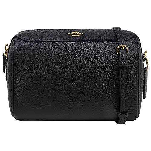 Coach Womens Crossgrain Leather/Signature Mini Bennett Crossbody Bag