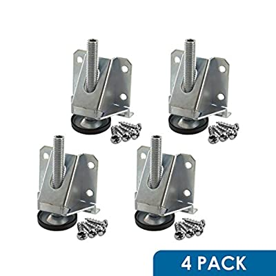 Rok Hardware 4 Pack Heavy Duty 8000 LB Capacity Adjustable Furniture Leg Leveler