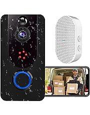 Video Doorbell, Bextgoo Deurbel Camera, 1080P Heldere Foto's, PIR-bewegingsdetectie, Wi-Fi Video Deurbel Met Gratis Cloudopslagservice, IP65 Waterdicht, 2-Weg Audio, Helder Nachtzicht, Groothoek