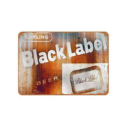 TYmall Rusty Carling Black Label Beer Advertising Wall Sign 12X16 Inches Carling Black Label Beer