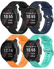 Tyogeephy Kompatibel med Garmin Forerunner 645 / Forerunner 245/245 musikband, 20 mm mjukt silikonbyteband för Garmin Vivoactive 3 / Vivoactive 3 Music/Vivomove HR/Galaxy Watch 42mm