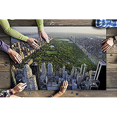 New York City, New York - Aerial View of Central Park - Photography A-91957 (Premium 1000 Piece Jigsaw Puzzle for Adults, 20x30, Made in USA!): Toys & Games