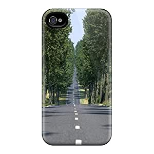 New Shockproof Protection Cases Covers For Iphone 6/ Straight Road Lined By Trees Cases Covers