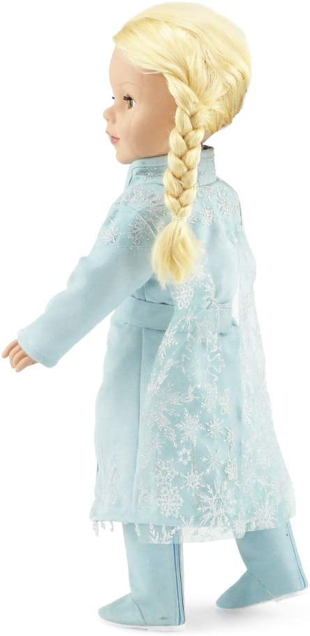 Princess Elsa Frozen 2 Inspired 5 PC Doll Outfit Emily Rose 18 Inch Doll Clothes Fits American Girl Dolls Doll Clothes for 18 Journey Girls and Similar Dolls