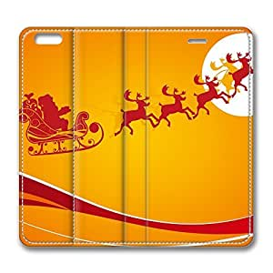 iPhone 6 4.7inch Leather Case, Santa Is Coming For Christmas 1 Personalized Protective Slim Fit Skin Cover For Iphone 6 [Stand Feature] Flip Case Cover for New iPhone 6