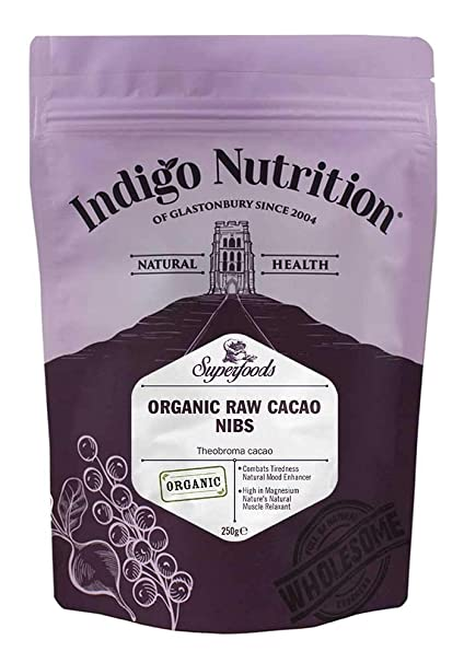 Indigo Herbs Puntas de Cacao Crudo Orgánico (Nibs) 250g