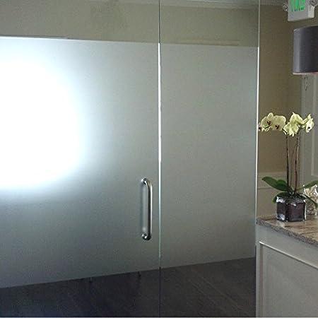 Film occultant brise-vue sablé/givré pour vitres et fenêtres (rouleau de 60 cm sur 1 m) + cutter offert Decooo.be