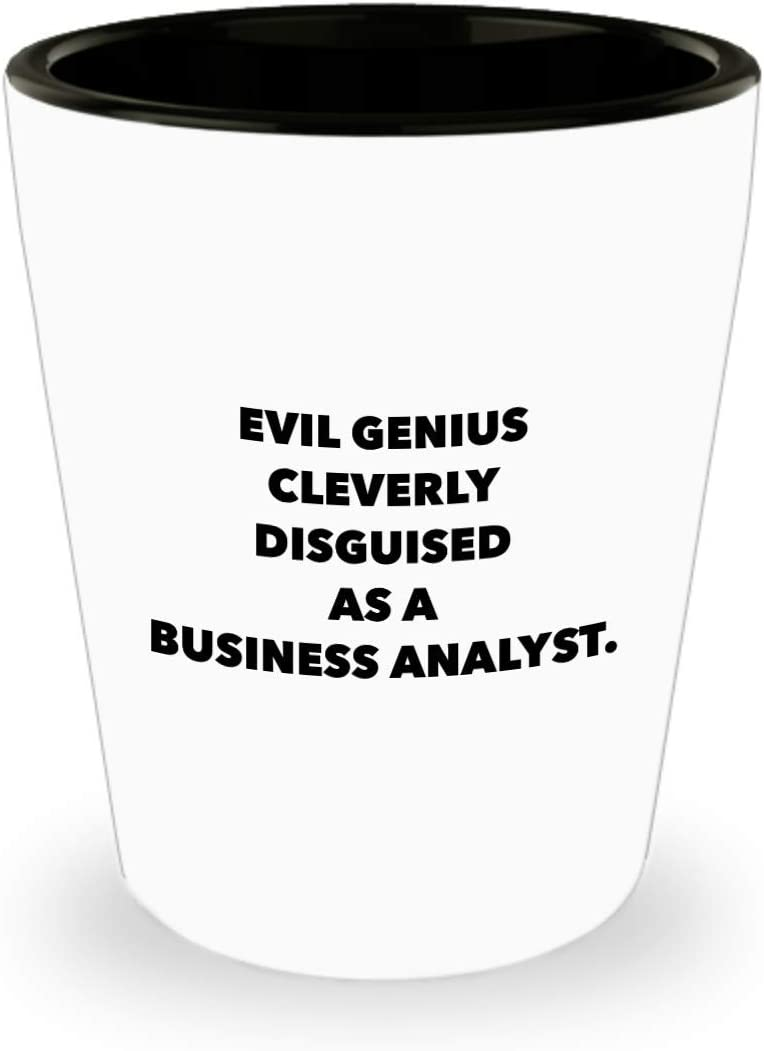 Business Analyst Mug - Shot Glass Gifts For Project Manager CIO CTO Change CFO - Birthday Gifts - Best Funny Name Cup for Co Worker Office Colleague Friend - Shotglass Gift Unique Idea White Sexy