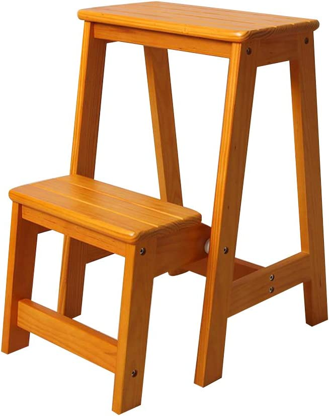 Step stools Madera Maciza Escalera Plegable Taburete Multifuncional Utilidad Taburete Interior Escalera MóVil Muebles Creativos: Amazon.es: Hogar