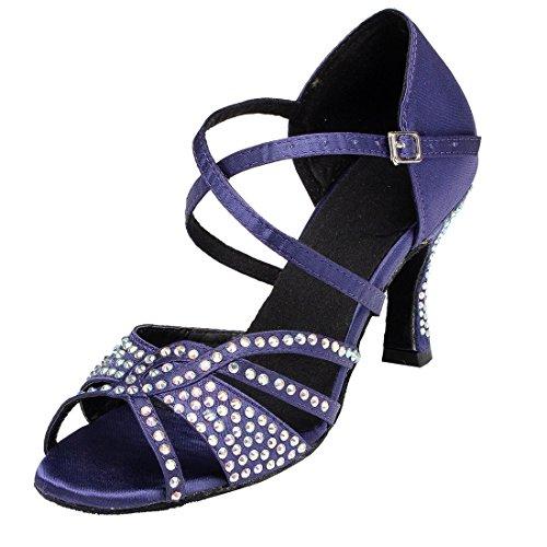 TDA - Zapatos con tacón mujer morado/azul