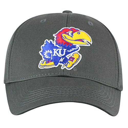 Top of the World Kansas Jayhawks Men's Fitted Hat Icon, Charcoal, One Fit