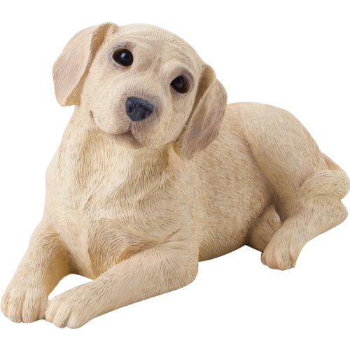 Sandicast Small Size Yellow Labrador Retriever Sculpture, Lying