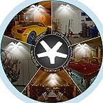 ALOVECO LED Garage Lights, LED Garage Ceiling Lights 60W 6000LM, E26/E27,CRI 80, 6000K Daylight White with 5 Adjustable… 14