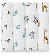 aden + anais Swaddle Blanket, Boutique Muslin Blankets for Girls & Boys, Baby Receiving Swaddles,...