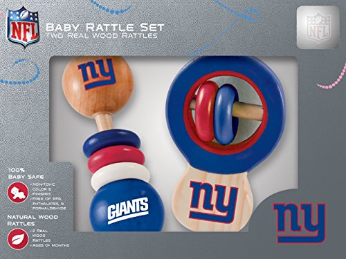 - NFL New York Giants Baby Rattle Set - 2 Pack
