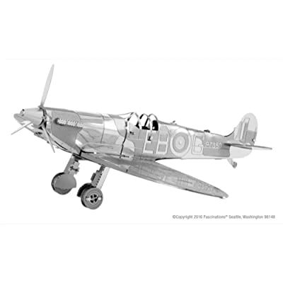 Fascinations Metal Earth Supermarine Spitfire 3D Metal Model Kit: Toys & Games