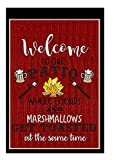 Welcome to Our Patio Decorative Garden Flag, Double Sided, 12'' x 18'' inches, Summer BBQ Deck Banner