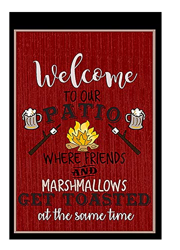 Welcome to Our Patio Decorative Garden Flag, Double Sided, 12'' x 18'' inches, Summer BBQ Deck Banner by Flags Galore