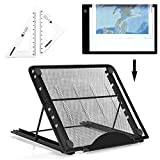 Photo : Ventilated Adjustable Light Box Laptop Pad Stand w Extra Geometry Tool,Multifunction (6 Angle Points) Skidding Prevented Tracing Holder for Tikteck A4 LED Tracing Light Board &Diamond Painting