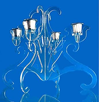 Amazon.de: Acryl Kerzenhalter für 4 Tassen, Geburtstag Kerzenhalter ...