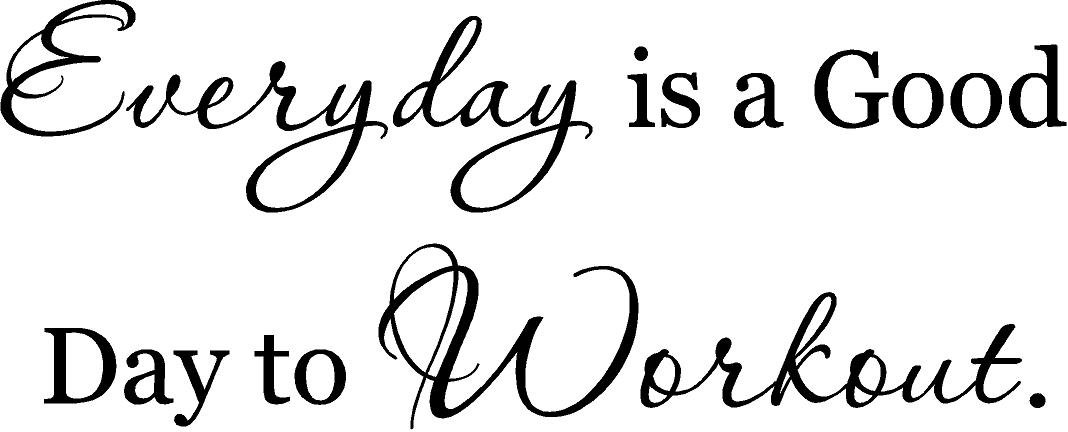 CreativeSignsnDesigns Everyday is a Good Day to Workout- vinyl wall decal (black, 36''x14'')