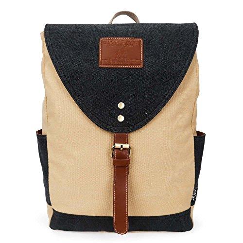 DANNY BEAR Canvas Vintage Womens Backpack Mini Shoulder S...