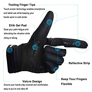 Touch Screen Gloves, Allnice Unisex Winter Gloves Keep Warm and Windproof Thermal Gloves for Iphone Smartphone Tablets Driving Outdoor Sports Running Cycling (Black, XL)