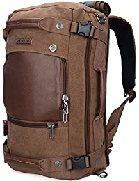 Men Travel Backpack Canvas Rucksack Vintage Duffel Bag