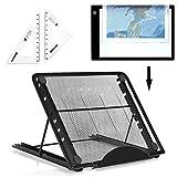 Ventilated Adjustable Light Box Laptop Pad Stand