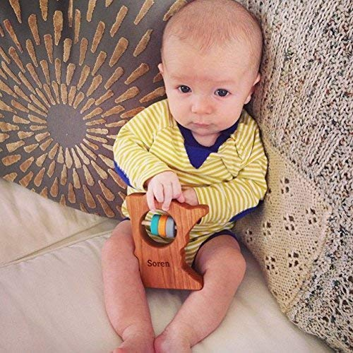 Minnesota State Wooden Baby Rattle /™