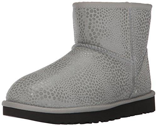 Violet Glitzy Stivali Grey 1019637 di Pelle Mini UGG F1xwf4aqx