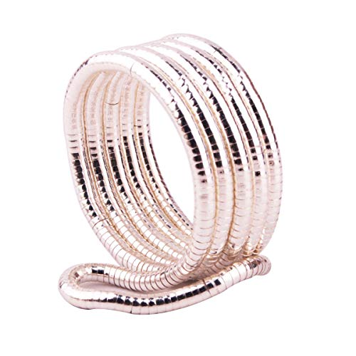GVUSMIL Bendable Snake Twistable Necklace Bracelet Scarf Holder (Silver, 5mm)