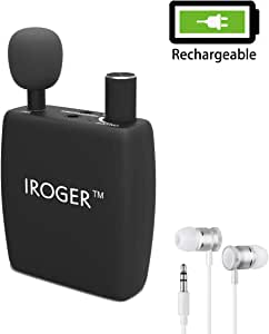 Sound Amplifier Rechargeable Personal Hearing Amplifier PSAP for Ears,Adult,3.5MM Stereo,Directional Microphone (Black)