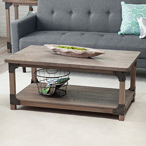 Belham Living Jamestown Rustic Coffee Table with Unique Driftwood Finish ()