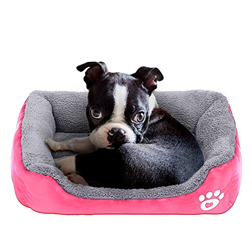 Barelove Square Large Dog Bed Mattress Washable Pads Room Waterproof Bottom(L,Hot Pink) by Barelove