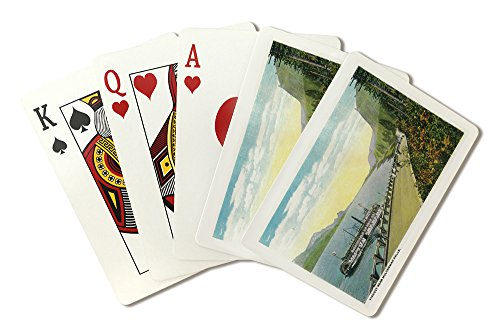 Viaduct Near Multnomah Falls, Columbia River (Playing Card Deck - 52 Card Poker Size with Jokers) (Columbia Multnomah River Falls)