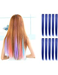 Amazon blue hair extensions extensions wigs product details pmusecretfo Gallery