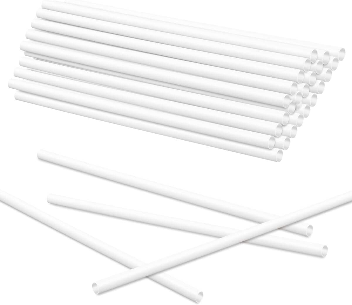 Fireboomoon 36 PCS 12 Inch Plastic White Cake Dowel Rods,Cake Support Rods Straws Sticks for Tiered Cake Construction Stacking and DIY Crafts(0.4