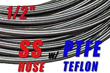 Stainless Steel Braided 1500 PSI 8AN AN8 AN-8 Fuel Line Gas Oil Hose 1M 3.3FT