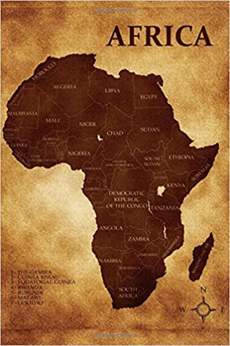 Map of Africa Journal: 150 page lined notebook/diary: Cool Image