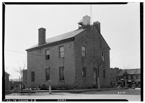 HistoricalFindings Photo: Old Courthouse,Main Street,Greensburg,Green County,KY,Kentucky,HABS,1 (Ky Photo)