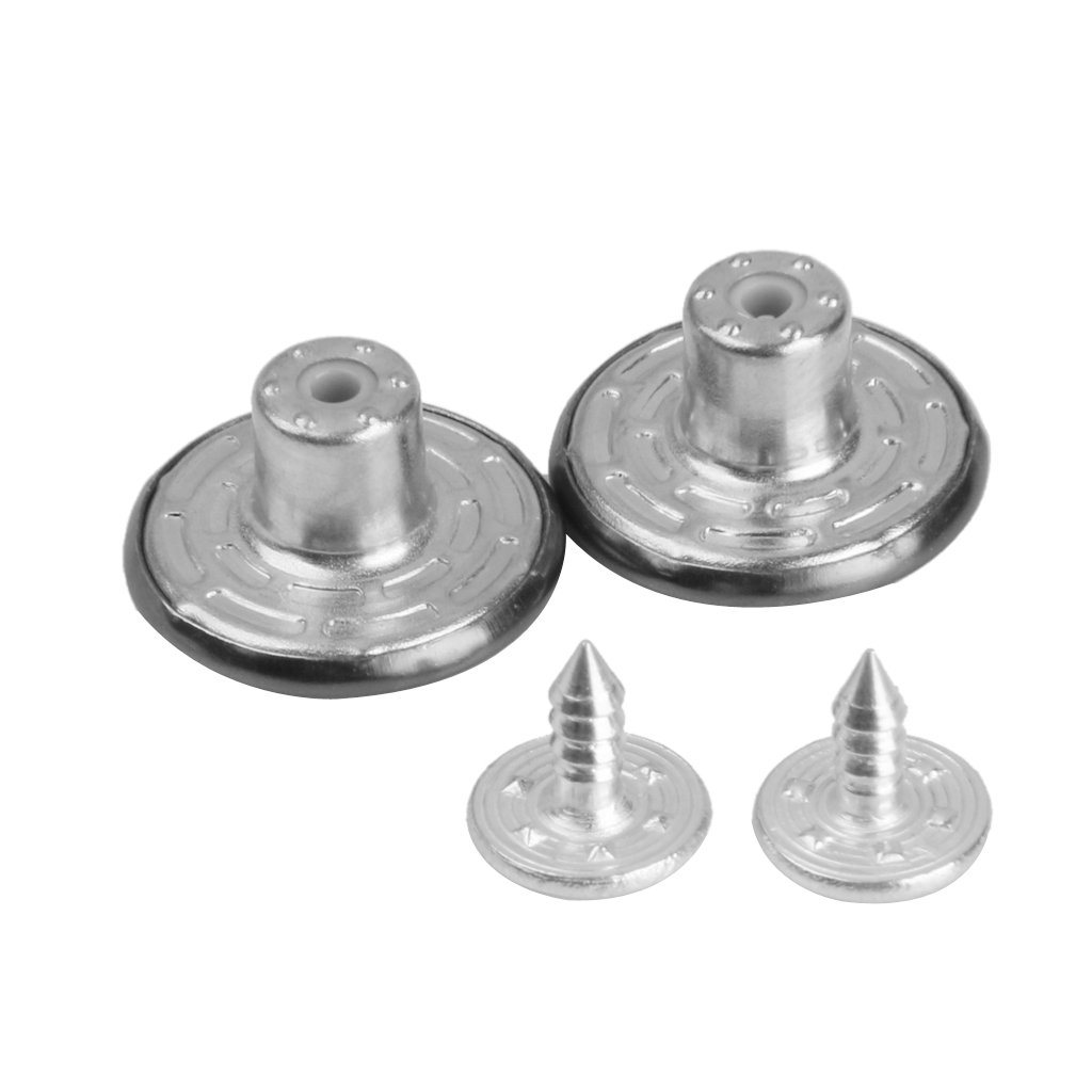 Prettyia 50 Sets Round Metal Screw Studs Replacement Jean Button