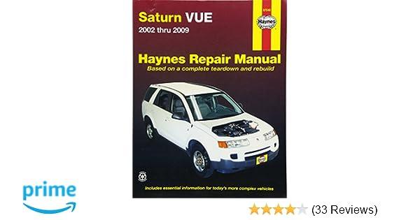saturn vue 2002 2009 repair manual haynes repair manual haynes rh amazon com 2009 saturn vue owner's manual pdf 2006 Saturn Vue