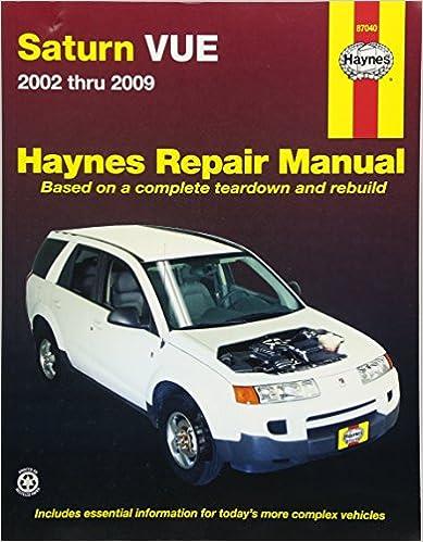 Saturn vue 2002 2009 repair manual haynes repair manual haynes saturn vue 2002 2009 repair manual haynes repair manual 1st edition fandeluxe Images
