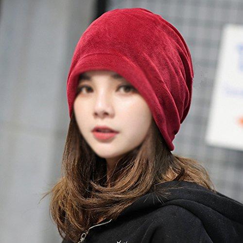Adela Boutique Lady Girl Velvet Slouchy Beanie Hat Unisex Street Fashion Warm  Winter Skull Cap Red - Buy Online in Oman.  917ab20ce84a